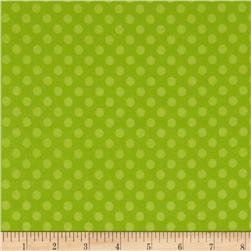 Riley Blake Flannel Simply Sweet Dot Green