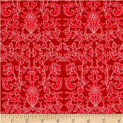 Riley Blake Into the Garden Damask Red