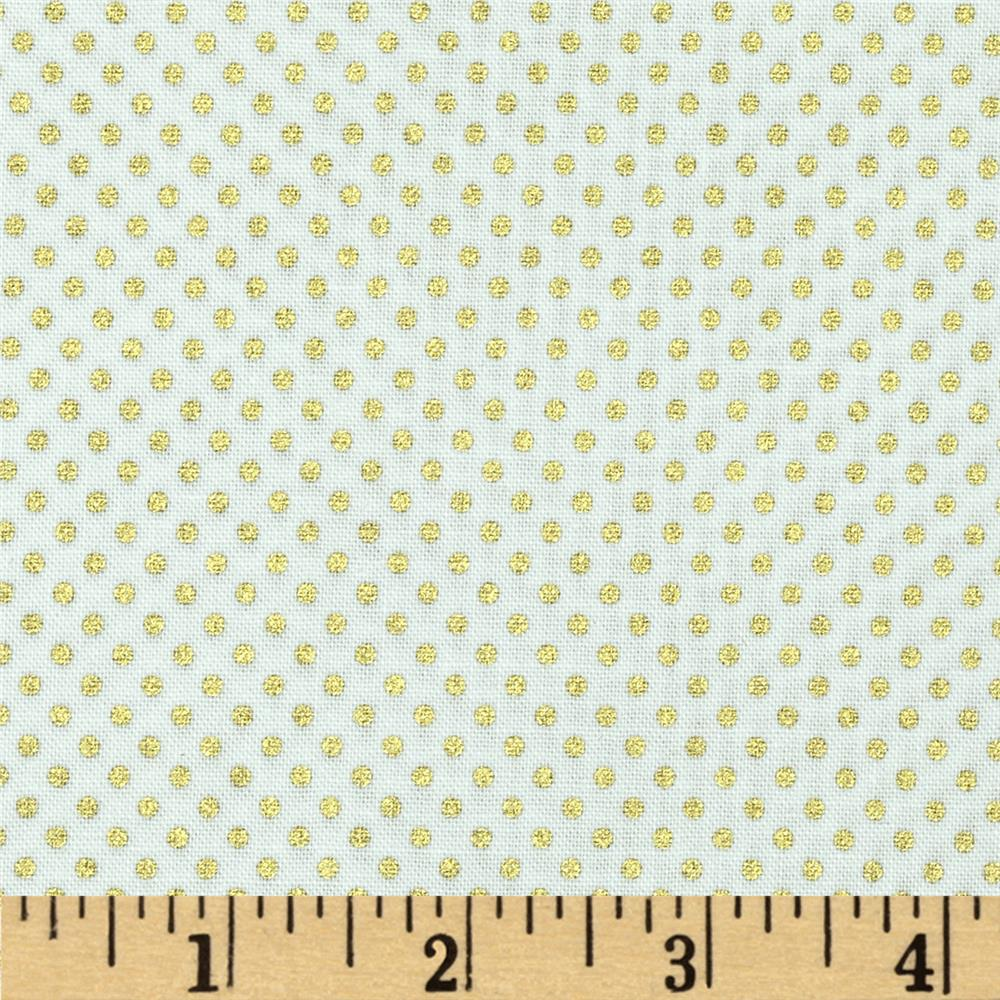 Pearle Gold Small Dot White/Gold Pearl