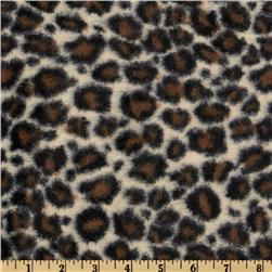 Minky Soft Cuddle Jaguar Tan/Brown Fabric