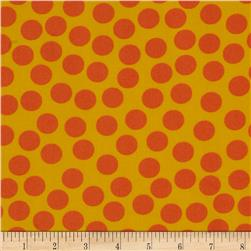 Polka Dot Yellow/Orange Fabric