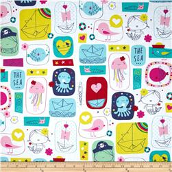 Ahoy Matey The Sea Multi Fabric