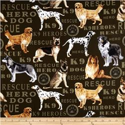 Kanvas Hero Dogs Pedigree Dogs Olive Fabric