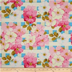 Rose Garden Trellis Rose Bright Fabric