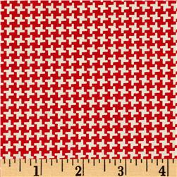 Penny Rose Hope Chest Hope Houndstooth Red Fabric