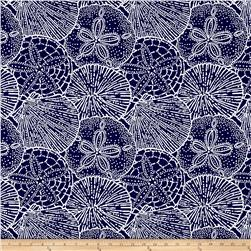 P/Kaufmann Outdoor Jacquard Sea Shells Navy Olefin