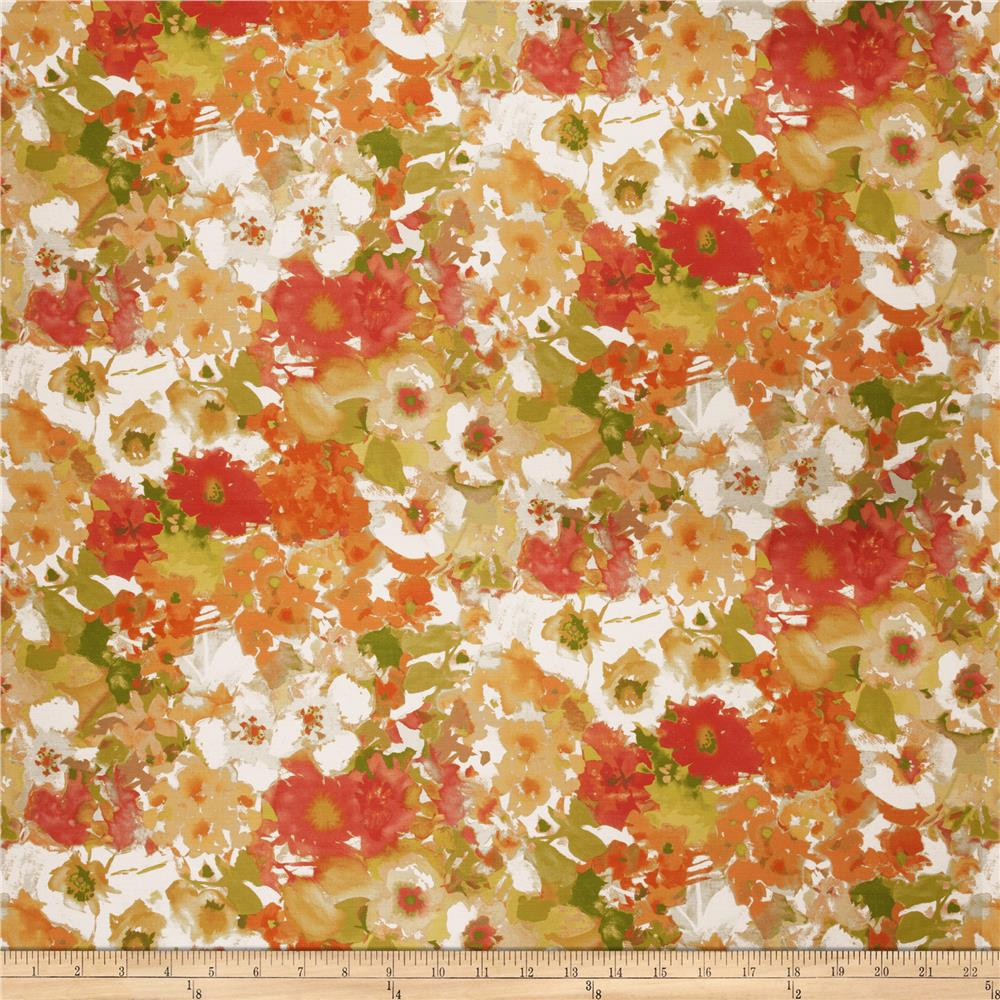 Fabricut Skewer Floral Barkcloth Autumn
