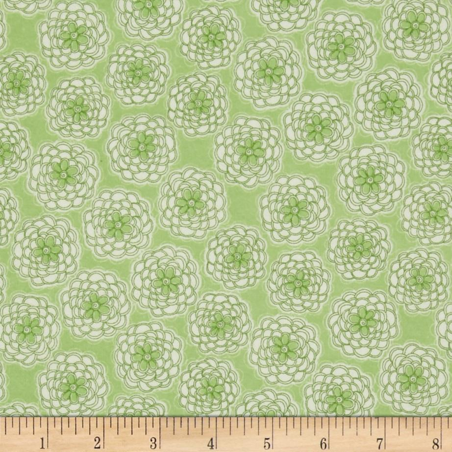 Cotton Candy Flannel Mums Green