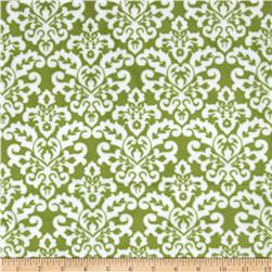 Minky Cuddle Classic Damask Jade/Snow Fabric