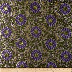 Metallic Brocade Floral Purple