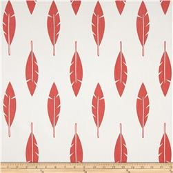 Premier Prints Feather Silhouette Twill White/Coral