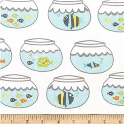 Michael Miller Guppies For Lunch Swimming In Circles Sea