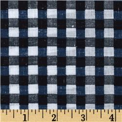 Cotton Plaid Lawn Black/Navy/White