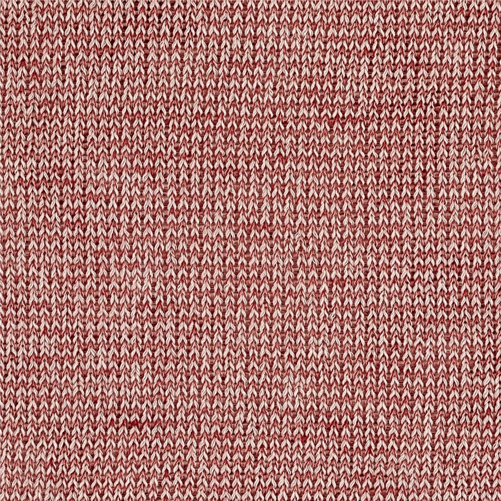Marled Sweater Knit Red/Ivory