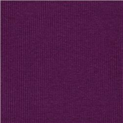 Basic Cotton Rib Knit Cool Purple