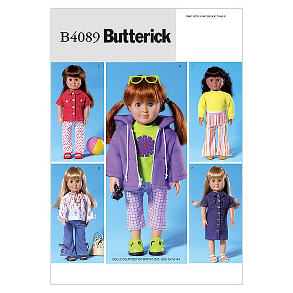 "Butterick 18"" Doll Clothes Pattern B4089 Size OSZ"