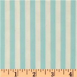 Michael Miller Retro Clown Stripe Aqua
