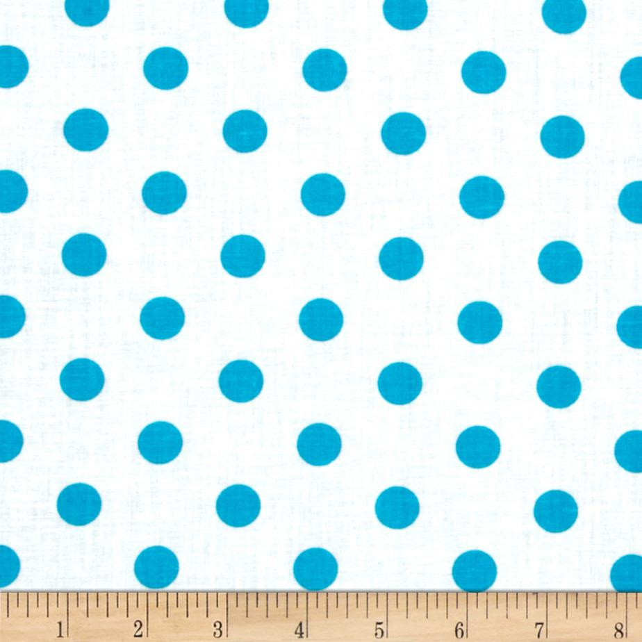 Spot On II Polka Dots White/Turquoise