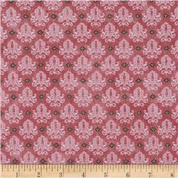 Benartex Birds of a Feather Damask Rose Fabric