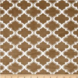 Minky Moroccan Tile Taupe
