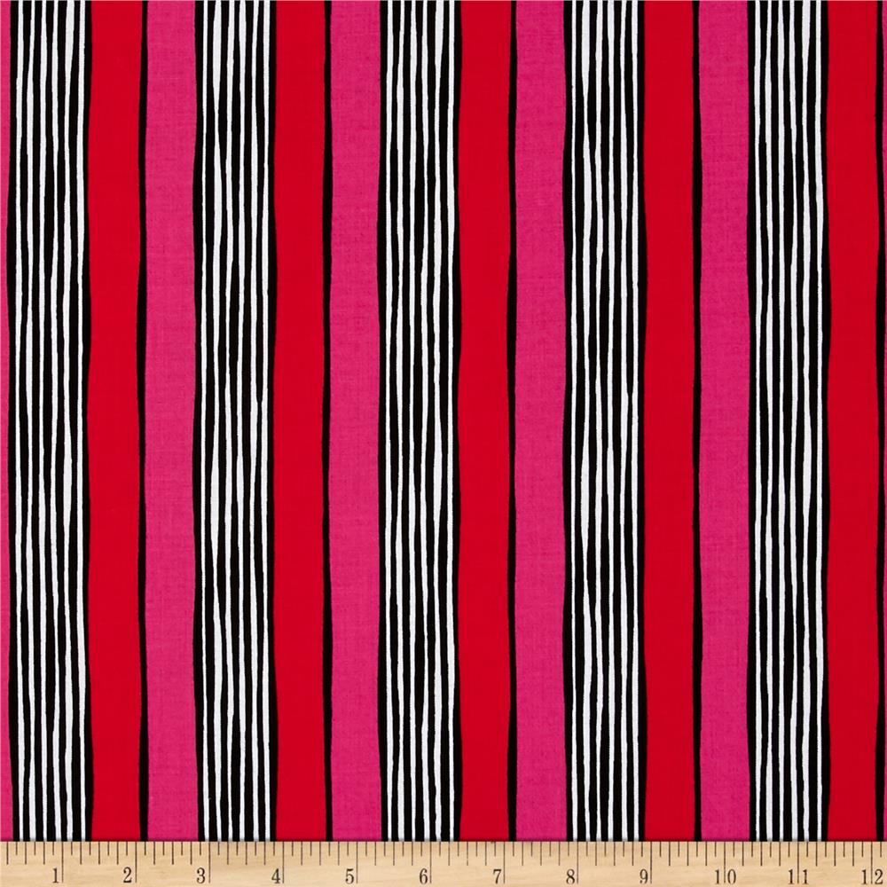 Michael Miller on the Town Stripe Red