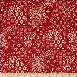 Santa Fe Arroyo Bandana Dark Red