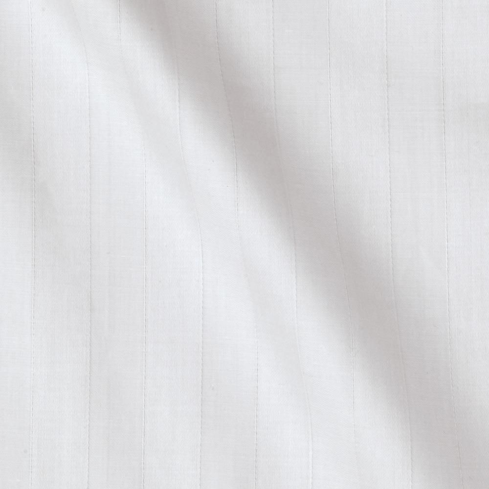 118'' Sateen Stripe White