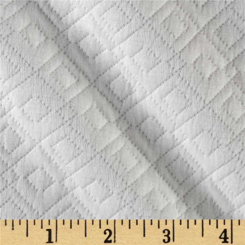 Quilted Liverpool Double Knit Harlequin White