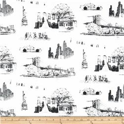 Urban NYC Toile Canvas Natural/Black