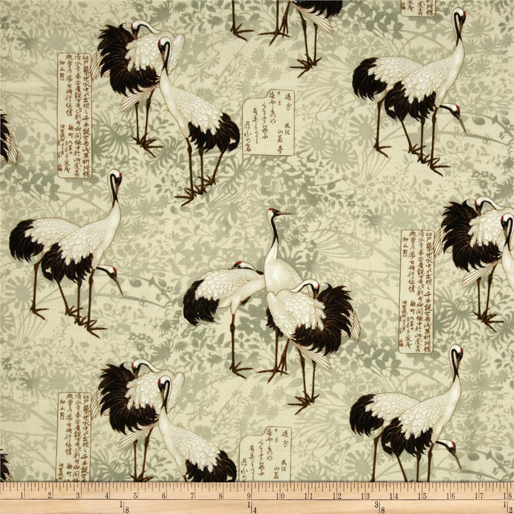 Timeless Treasures Tancho Large Birds Cream