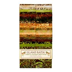 "Island Batik Wheat Grass 2.5"" Strip Pack"