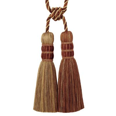 "Fabricut 29.5"" Encrusted Double Tassel Tieback Copper"