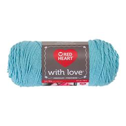 Red Heart Yarn With Love 1502 Iced Aqua