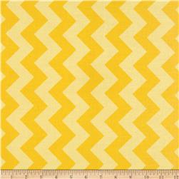 Riley Blake Laminate Medium Chevron Tone on Tone Yellow