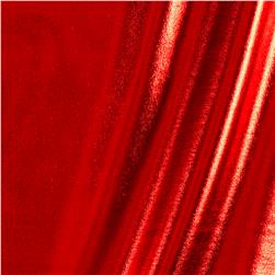 Foil Knit Lame Glossy Red