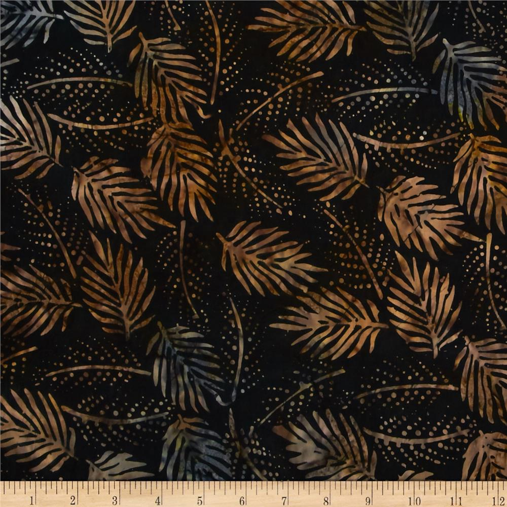 "Timeless Treasures 106"" Batik Quilt Back Foliage Espresso"