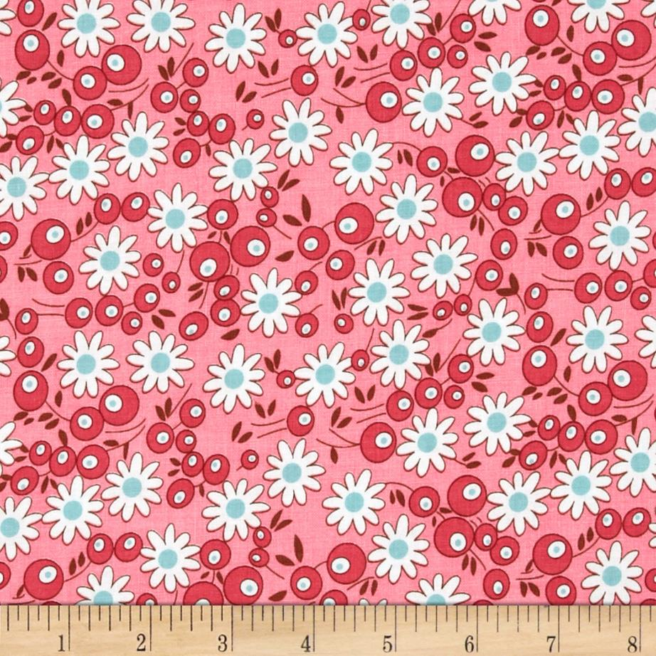 Riley Blake Flower Patch Berries Pink
