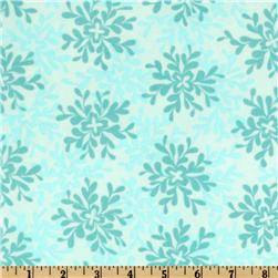 Valori Wells Nest Cotton Voile Leaves Turquoise