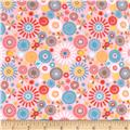 Riley Blake Girl Crazy Flannel Petals Pink