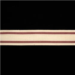 "1 1/2"" Woven Ribbon Stripes Burgundy"