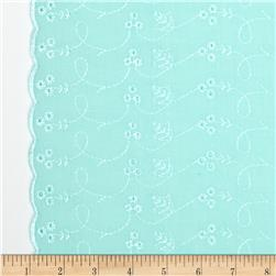 Lightweight Embroidered Eyelet Mint