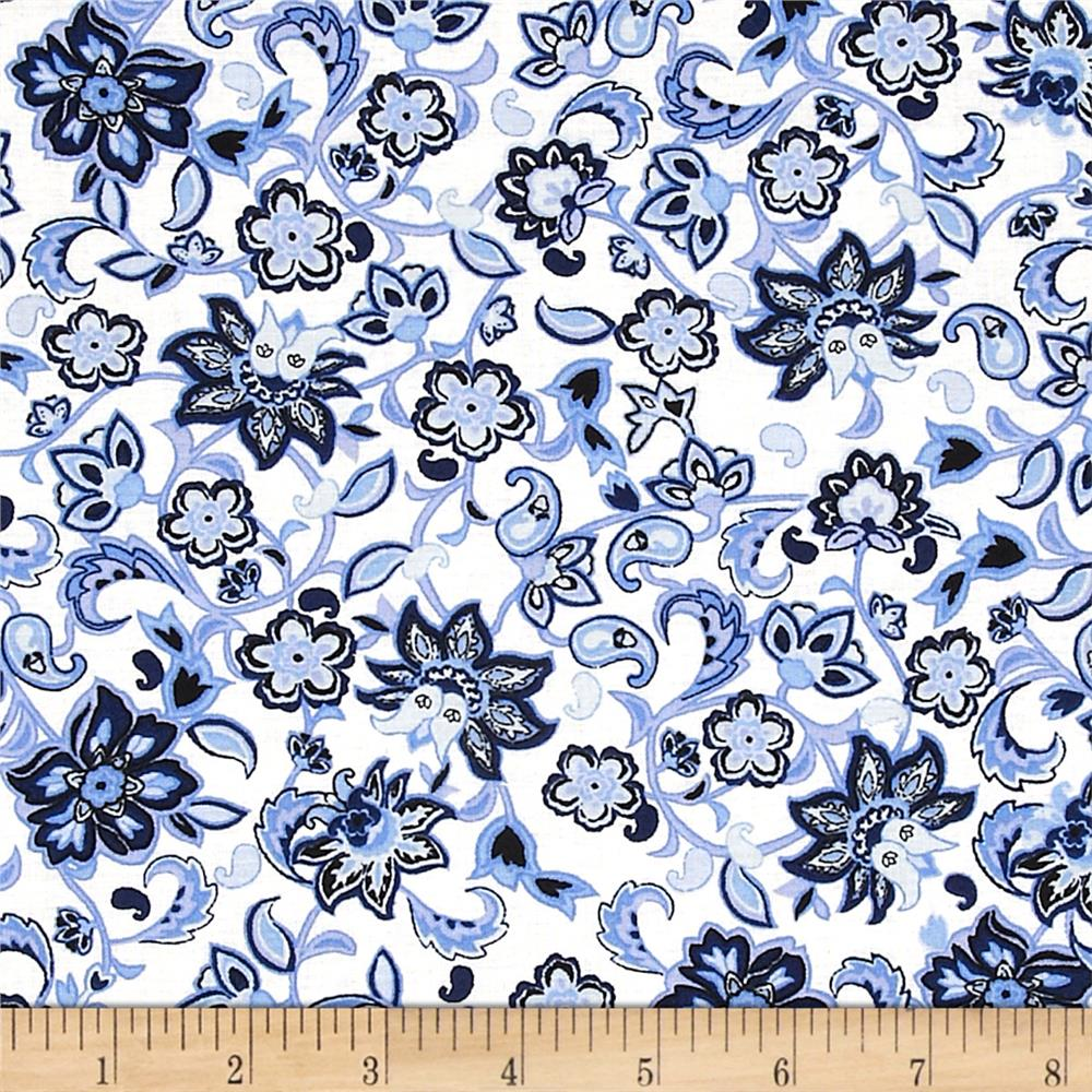 Blues Clues Tossed Floral Blue
