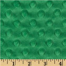 Minky Cuddle Dimple Dot Kelly Green Fabric