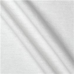 Stretch Micro French Terry Knit White Fabric