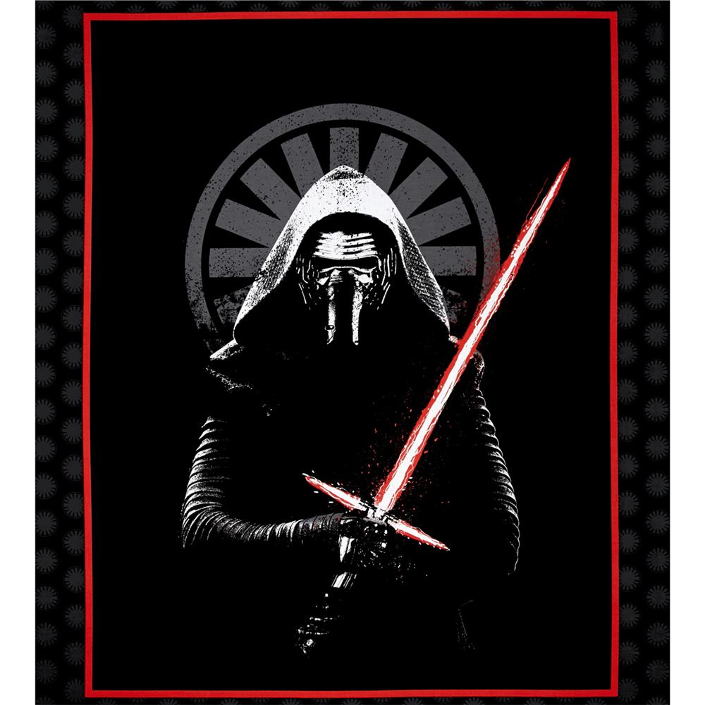 Star Wars The Force Awakens Kylo Ren 36 In. Panel Black Fabric By The Yard