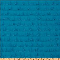 Stretch Ruffle Knit Turquoise Fabric