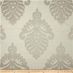 World Wide Rowley Metallic Damask Satin Jacquard Grey