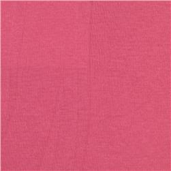 Basic Cotton Baby Rib Knit Solid Bubblegum Pink