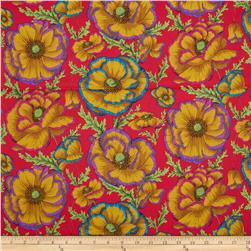 Kaffe Fassett Collective Banded Poppy Carmin Fabric