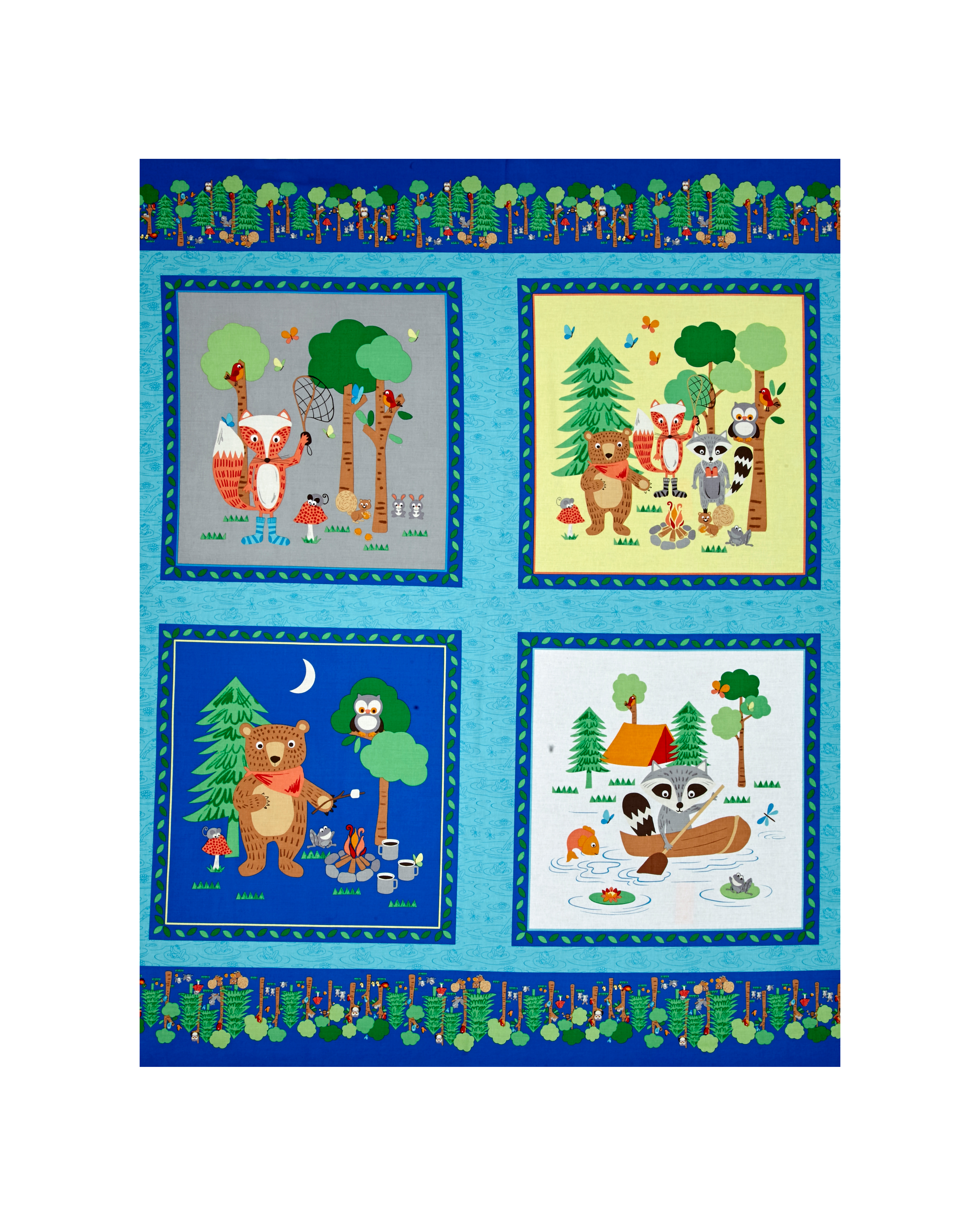 Camping Club 36'' Panel Blue Fabric by Stardom Specialty in USA